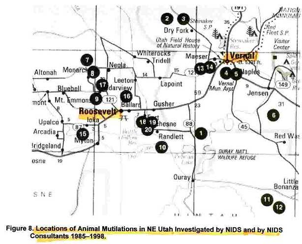 Skinwalker Ranch Utah Map.Hunt For The Skinwalker English
